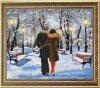 Рисунок на ткани бисером БЛАГОВЕСТ арт.К-3085 Прекрасный декабрьский вечер 34x28 см