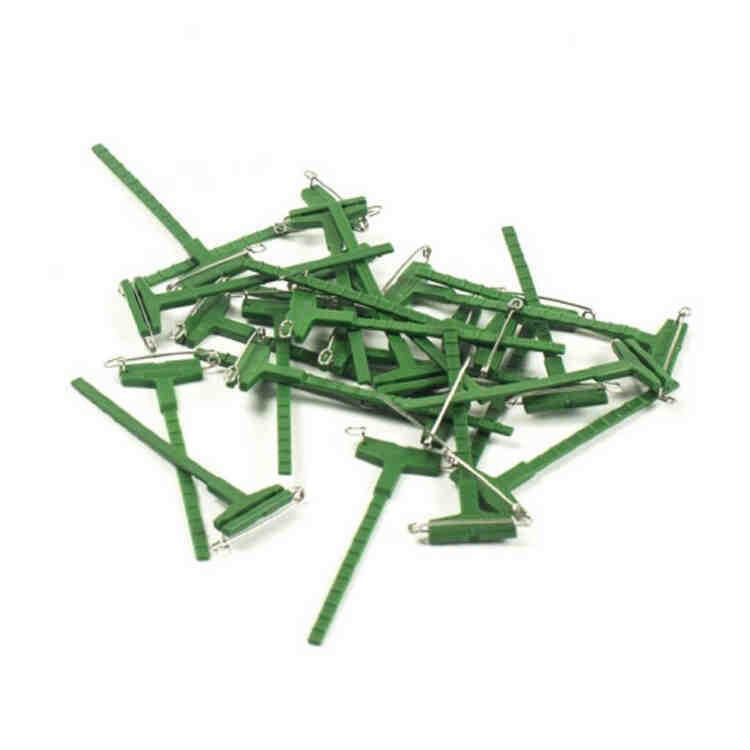 Гала клип, Булавка для бутоньерки ОАЗИС, цв. зеленый - 1 шт.