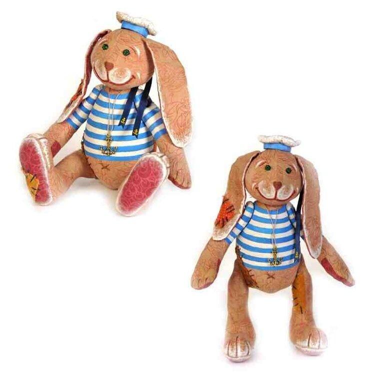 Набор для изготовления текстильной игрушки в чердачном стиле арт.ПЧ-504 'Заяц - Повелитель Морей' 24х16,5 см
