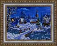 Рисунок на ткани бисером БЛАГОВЕСТ арт.К-3039 Рождественский вечер 37,3х28 см