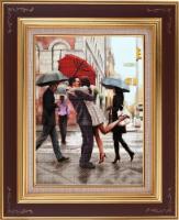 Рисунок на ткани бисером БЛАГОВЕСТ арт.К-3042 Долгожданная встреча 28,5х38,8 см