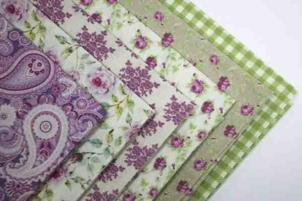 """Набор ткани для пэчворка """"Пионы в саду"""" 100% хлопок 120г/м2 48х50см (+/- 1-2см) уп.6шт"""