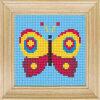 Рисунок на канве (страмин) с нанесенным рисунком ЧАРIВНИЦЯ арт. C64 Бабочка 10х10 см