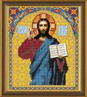 Рисунок на ткани бисер НОВА СЛОБОДА арт.БИС9023 А4 Иисус Христос 19х22 см