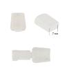 Наконечник для шнура пластик арт. 503-Д (Ø 7мм) цв.прозрачный уп.500шт