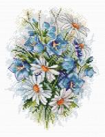Набор для вышивания ЖАР-ПТИЦА арт.М-120 Луговые цветы 18х15 см