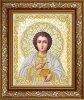 Рисунок на ткани бисером БЛАГОВЕСТ арт.ЖС-4015 Пантелеймон Целитель в жемчуге