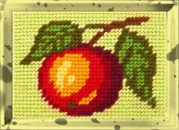 Набор для вышивания с пряжей BAMBINI арт.X2144 Яблоко 10х14 см