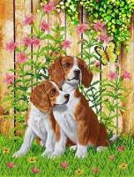 Рисунок на ткани КАРОЛИНКА арт. КБЖ-3009 Верные друзья 27х35,2 см
