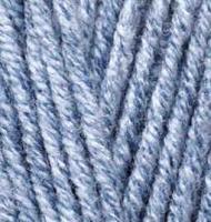 Пряжа для вязания Ализе Superlana maxi (25% шерсть, 75% акрил) 5х100г/100м цв.806 синий жаспе