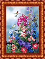 Рисунок для вышивки лентами КАРОЛИНКА арт. КЛ-3009 25,5х36,4 см