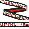 Тесьма TBY тканая Рубчик Atmosphere Лампас NET13251W шир.25мм цв.черный уп.50м