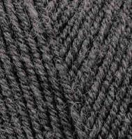 Пряжа для вязания Ализе Superlana TIG (25% шерсть, 75% акрил) 5х100г/570 м цв.196 т.серый меланж