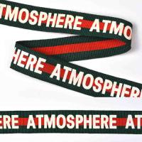 Тесьма TBY тканая Рубчик Atmosphere Лампас NET13252W шир.25мм цв.зеленый уп.50м