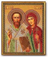 Набор для вышивания бисером КРОШЕ арт. В-186 Каприан и Устинья 19х24 см