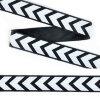 Тесьма TBY репсовая с рисунком стрелки шир.25мм цв.черный уп.100м