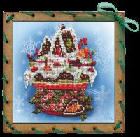 Набор для вышивания НОВА СЛОБОДА арт.ОР7506 Праздничный десерт 15х15 см