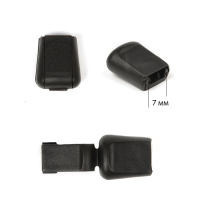 Наконечник для шнура пластик арт. 503-Д (диаметр  7мм) цв.черный уп.500шт