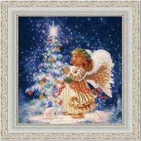 Рисунок на ткани (Бисер) КОНЁК арт. 9479 Звездочка 25х25 см