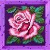 Набор для вышивания с пряжей BAMBINI арт.X2023 Роза 15х15 см