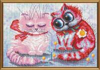 Набор для вышивания мулине НОВА СЛОБОДА арт.СР5188 Давай мириться 22х15 см