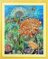 Набор 'Колор Кит' картина алмазная с фигурными стразами арт.КК.FKU018 Золотая хризантема 40х50