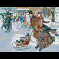 Набор для вышивания мулине НИТЕКС арт.0111 На катке 50х39 см