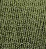 Пряжа для вязания Ализе LanaGold 800 (49% шерсть, 51% акрил) 5х100г/800м цв.029 хаки