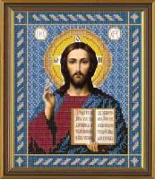 Рисунок на ткани бисер НОВА СЛОБОДА арт.БИС9017 А4 Христос Спаситель 19х23 см