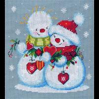 Набор для вышивания мулине НИТЕКС арт.0171 Снежные чувства 19х19 см