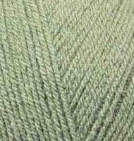 Пряжа для вязания Ализе Superlana TIG (25% шерсть, 75% акрил) 5х100г/570 м цв.138 зеленый миндаль