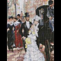 Набор для вышивания мулине НИТЕКС арт.0110 Рандеву 45х58 см
