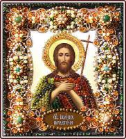 Набор для вышивания хрустальными бусинами ОБРАЗА В КАМЕНЬЯХ арт. 77-И-28 Святой Иоанн Предтеча 16,5х14,5 см
