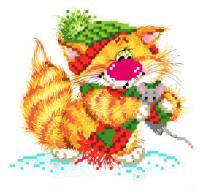 Набор для вышивания бисером МАТРЕНИН ПОСАД арт.24х26 - 0128/Б Без кота - жизнь не та! Вместе теплее