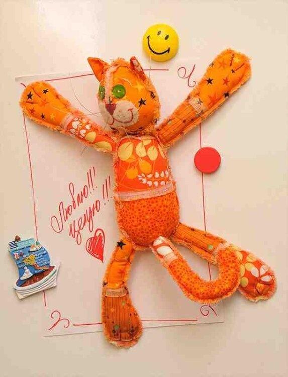 Набор для изготовления текстильной игрушки с магнитами в стиле пэчворк арт.ПМ-801 'Мартовский кот' 32,5см