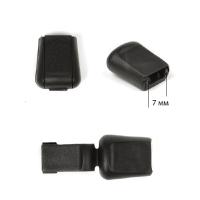 Наконечник для шнура пластик арт. 503-Д (диаметр  7мм) цв.черный уп.100шт