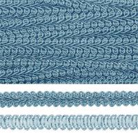 Тесьма TBY Шанель плетеная шир.8мм 0384-0016 цв.152 голубой уп.18,28м