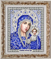 Рисунок на ткани СЛАВЯНОЧКА арт. ИС-5004 Казанская Божия Матерь в серебре 13х17 см