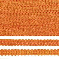 Тесьма TBY Шанель плетеная шир.8мм 0384-0016 цв.25 оранжевый уп.18,28м