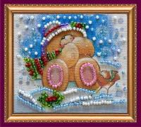 Набор для вышивания с магнитом АБРИС АРТ арт. AMA-057 С Новым годом-8 8х7 см