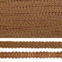 Тесьма TBY Шанель плетеная шир.8мм 0384-0016 цв.159 коричневый уп.18,28м