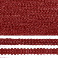 Тесьма TBY Шанель плетеная шир.8мм 0384-0016 цв.F178 (37) бордо уп.18,28м