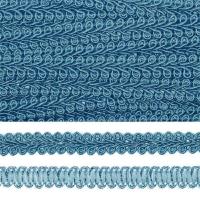 Тесьма TBY Шанель плетеная шир.8мм 0384-0016 цв.F189 (47) бирюзовый уп.18,28м