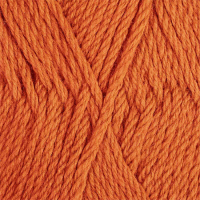 Пряжа для вязания ПЕХ 'Пехорская шапка' (85% мериносовая шерсть, 15% акрил высокообъемный) 5х100г/200м цв.186 манго