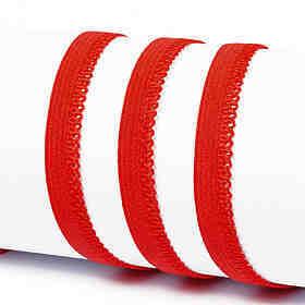 Резинка TBY бельевая (ажурная) 10мм арт.RB03162 цв.F162 (13) красный уп.100м