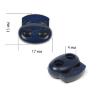 Фиксатор для шнура пластик арт. 103-М (диаметр  4мм) цв.т.синий уп.100шт