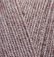 Пряжа для вязания Ализе LanaGold Fine (49% шерсть, 51% акрил) 5х100г/390м цв.240 коричневый меланж