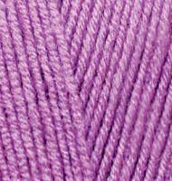 Пряжа для вязания Ализе LanaGold Fine (49% шерсть, 51% акрил) 5х100г/390м цв.260 орхидея