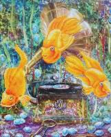 Набор 'Колор Кит' картина алмазная арт.КК.KU007 Симфония океана 40х50
