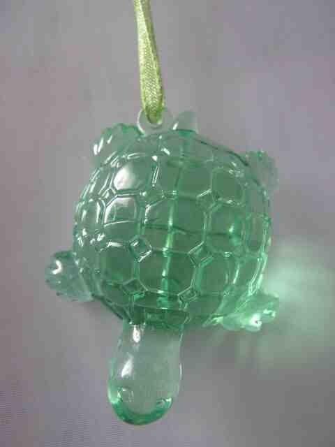 Декоративное украшение, Акриловая черепашка, Цвет Зеленый